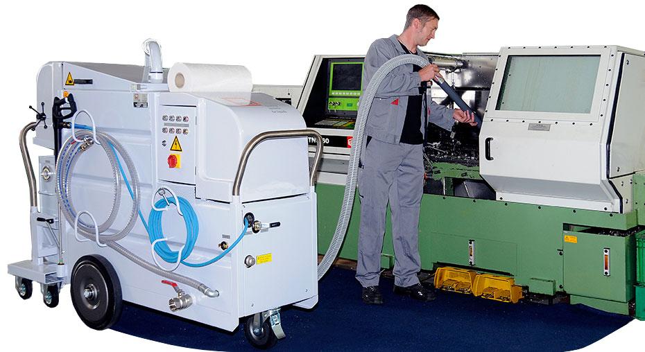 Inchiriere echipament mobil curatare CNC-uri si regenerare emulsie