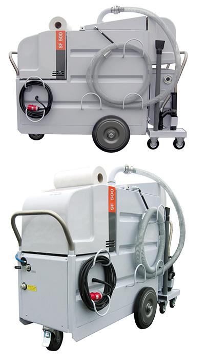 Aspirator mobil pentru filtrare si curatare emulsie din CNC