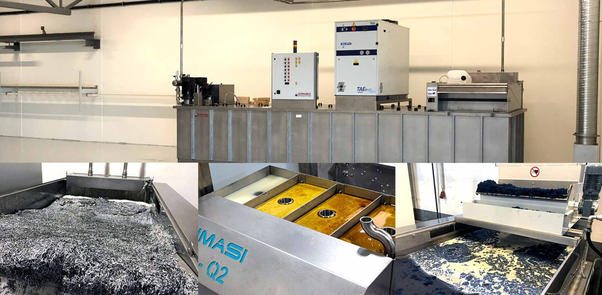 Sistem centralizat filtrare emulsie ulei apa proces